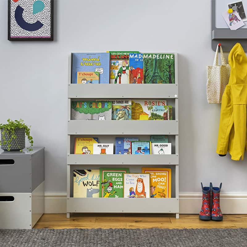 Children's bookcases, Tidy Books, Tidy Books Children Bookcases, kids bookcases, The Tidy Books Kids Wall Bookshelf Dark Grey