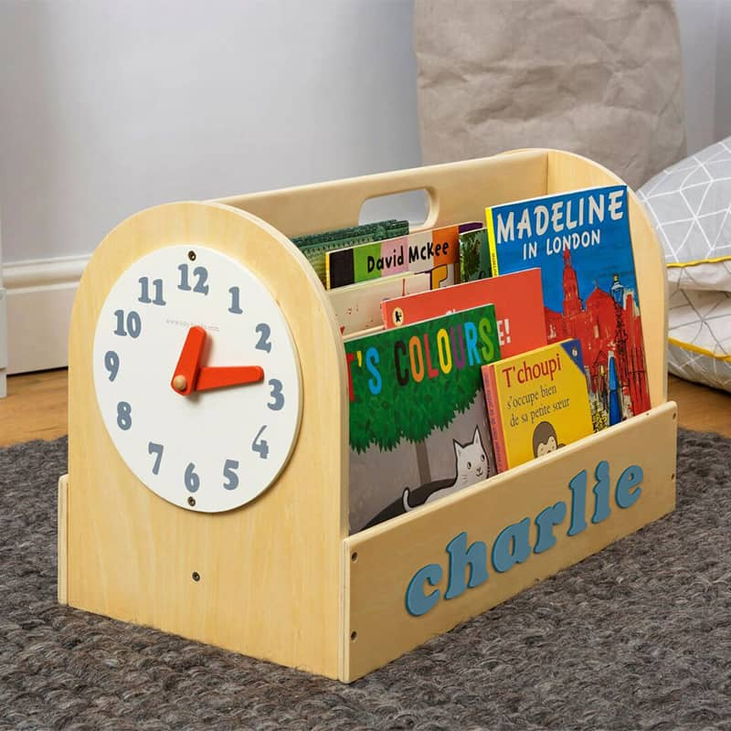 Tidy Books Children's Book Storage Box, Children's Book Storage Box, Tidy Books Book Box, Book Box, Tidy Books Box, Tidy Books Personalised Wooden Box Natural, Personalised Wooden Book Box