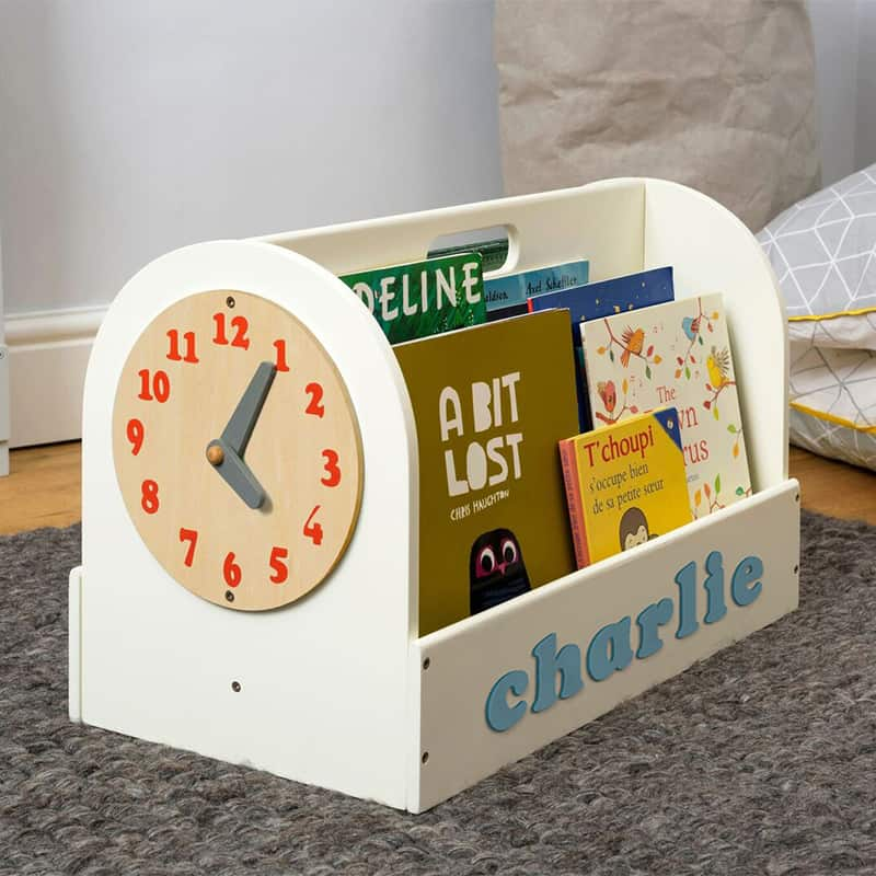 Tidy Books Children's Book Storage Box, Children's Book Storage Box, Tidy Books Book Box, Book Box, Tidy Books Box, Tidy Books Personalised Wooden Box Ivory, Personalised Wooden Book Box