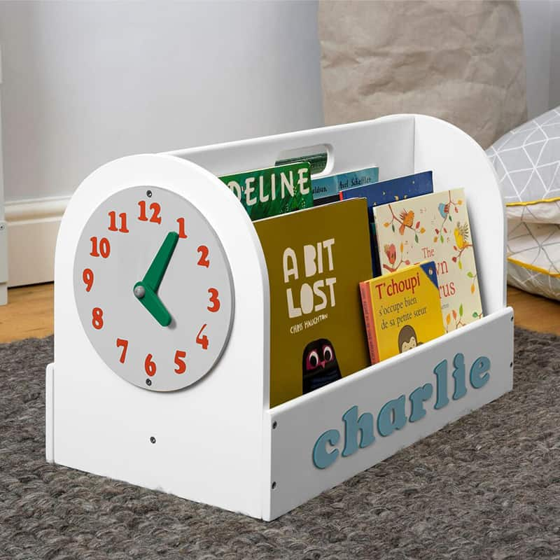 Tidy Books Children's Book Storage Box, Children's Book Storage Box, Tidy Books Book Box, Book Box, Tidy Books Box, Tidy Books Personalised Wooden Box White, Personalised Wooden Book Box