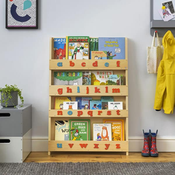 Children bookcases, Tidy Books, Tidy Books Children Bookcases, kids bookcases, The Tidy Books Montessori Bookshelf with Alphabet