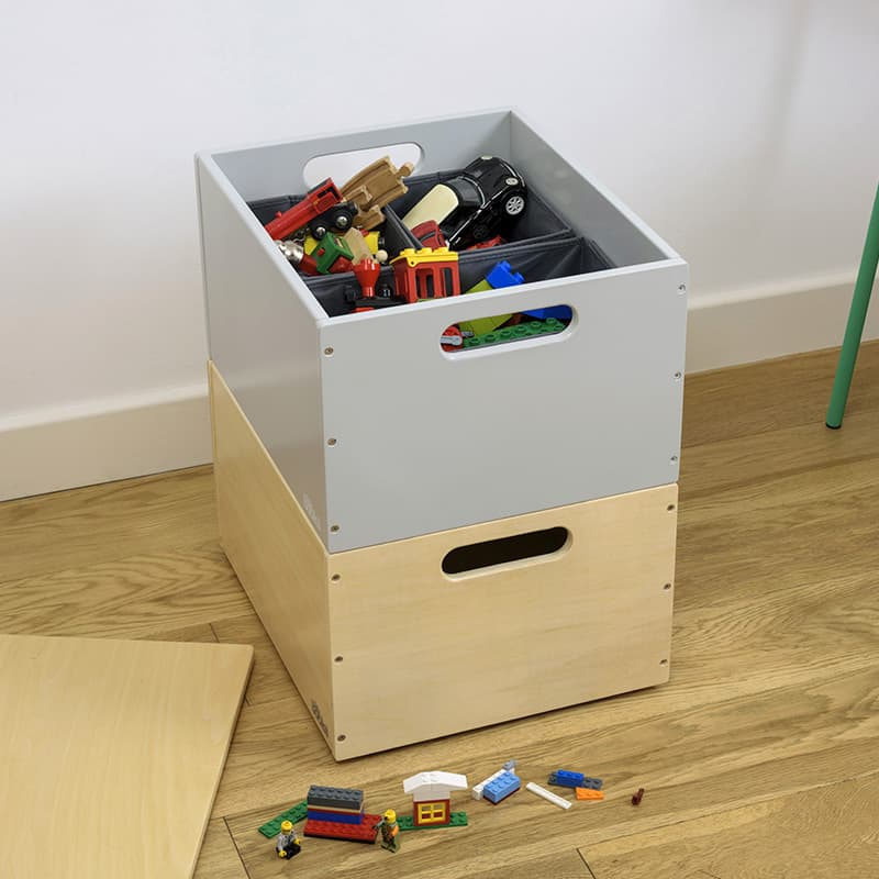 Natural and Pale Grey Kids Toy Storage Box Bundle – Sale Stock